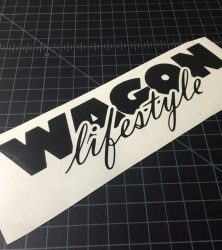 Wagon Lifestyle Black Sticker