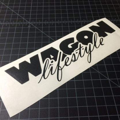 Wagon Lifestyle Black Sticker