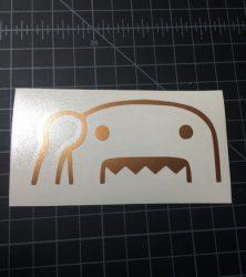 Domo Wave Gold Sticker