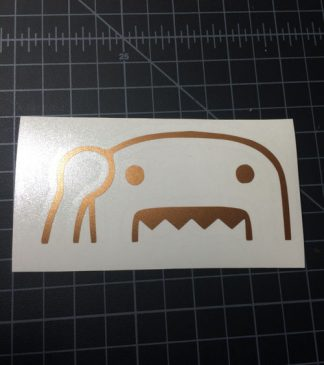 Domo Wave Gold Sticker