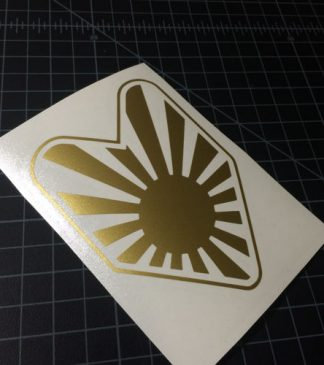 JDM Sun Badge Sticker Gold