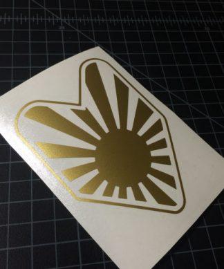 JDM Sun Badge Sticker Gold