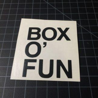 Box O Fun Black Sticker