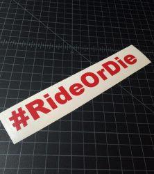 ride or die red