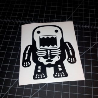 Domo Skeleton Sticker