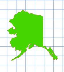 Alaska Solid Sticker