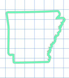 Arkansas Outline Sticker