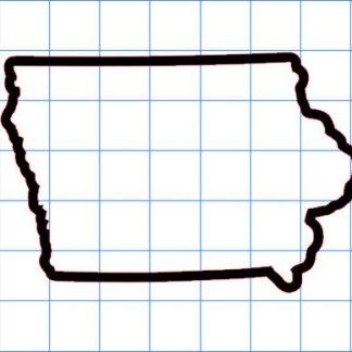 Iowa Outline Sticker
