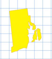 Rhode Island Solid Sticker