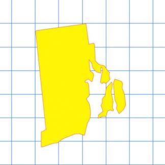 Rhode Island Solid Sticker