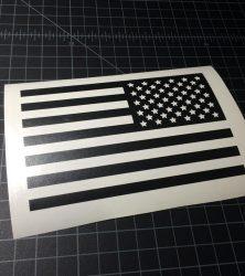 usa flag 2 black