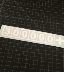 300000 Sticker