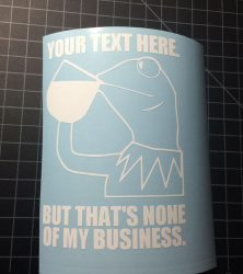 Kermit none of my business sticker