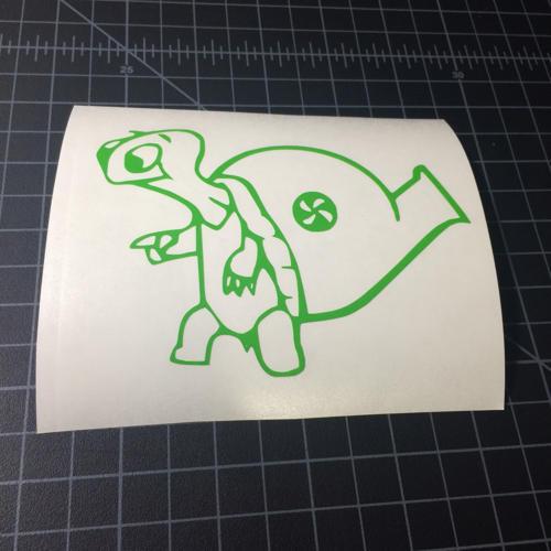 turbo turtle sticker stickerboost com
