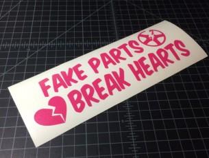 fake parts break hearts pink
