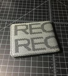 recaro wallet black gray flipped