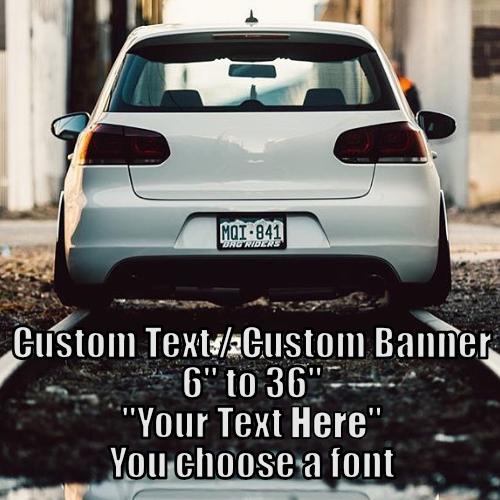 Custom Text Stickers