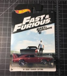 69 Dodge Charger Daytona Fast and Furious 2016 Hot Wheels