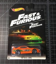 94 Toyota Supra Fast and Furious 2016 Hot Wheels