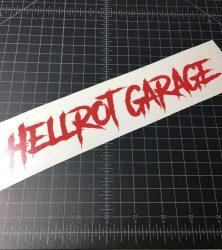 hellrot garage red