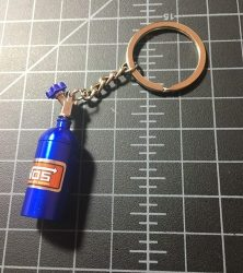 Nitrous bottle keychain blue