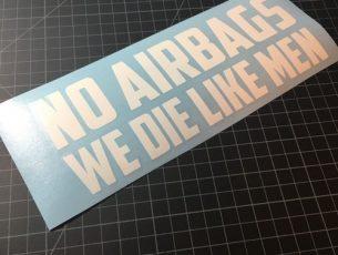 no airbags white