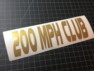 200mph club gold
