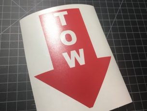 tow red