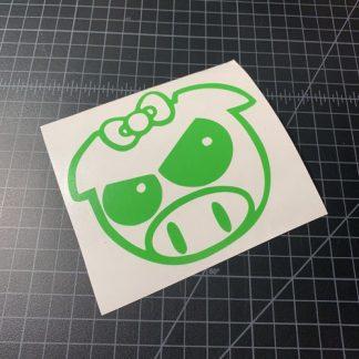 Bowtie Pig Sticker